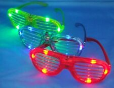 12 pcs Slotted Sunglasses Blinking Led Light Up Flashing Party Gift Bag Fillers