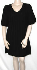 NEW Style & Co. Size MEDIUM Flutter Sleeve Cable Knit Sweater Dress BLACK