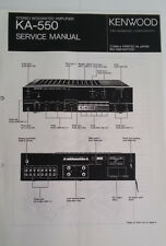 Service Manual Kennwood Stereo Integrated Amplifier KA-550