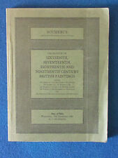 Sotherby's Catalogue 1980 - 16th/17th/18th/19th Century British Paintings