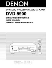 Denon DVD-5900 DVD Player Owners Manual