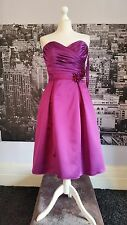 Designer Dress (Magneta-Size 12) Cocktail, Ball, Prom, Bridesmaid, Tag says £210