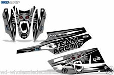 Decal Graphic Kit Arctic Cat FireCat F5,F6,F7 Sled Sabercat Snowmobile Wrap SLVR