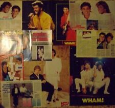 LOTTO WHAM - GEORGE MICHAEL CLIPPING + 3 SUPERPOSTER