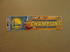 NBA GS Warriors 2015 Western Conf.Champs Bumper Sticker