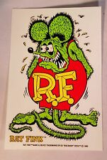 """ED ROTH RAT FINK WATERSLIDE DECAL MARKED 1989 APPROXIMATELY 4""""X6"""""""