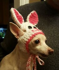 Chihuahua Small Dog Easter bunny Hat IMPROVED DESIGN ~Hand Crocheted~