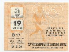 Orig.Ticket      Olympische Spiele HELSINKI 1952 - ERÖFFNUNGSFEIER  !!  RARITÄT
