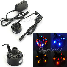 Ultrasonic 12LED Mist Maker Light Fogger Water Fountain Pond DC 24V Power Supply