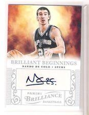 2012 Panini Brilliance Spurs Nando De Colo Auto Autograph Card