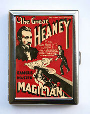 Heaney Vintage Magician Poster Cigarette Case Wallet Business Card Holder