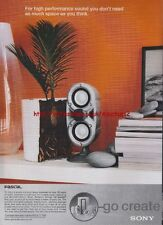 Sony Pascal Speakers 2000 Magazine Advert #3146