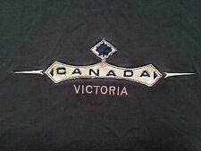VINTAGE VICTORIA CANADA EMBROIDERED T SHIRT XL