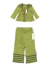 New Toddler Girl Luna Luna Copenhagen Buccaneer Green Top Pants Set Size 18/24 M