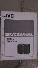 JVC s-m3 service manual original repair book stereo radio house speaker