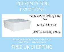 """1 x 12"""" x 9"""" x 6"""" Inch Oblong 2 Piece Cake Box"""