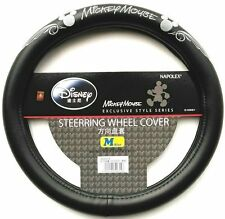 NEW NAPOLEX Disney Mickey Mouse Car Steering Wheel Cover Black