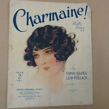 song sheet CHARMAINE ! Waltz Song Erno Rapee + Lew Pollack 1926