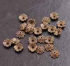 100PCS Flower Bead Caps Floral Spacer Beads 8MM Tibetan Silver Alloy 3113