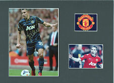 ROBIN VAN PERSIE Signed 11x8 Photo display MANCHESTER UTD & NETHERLANDS COA