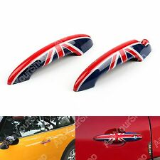 Union Jack UK Flag Checkered Door Handle Cover Fr Mini Cooper R50 R52 R53 R55 B1