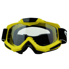 Pro Off Road Motocross Motorcycle Clear Lens Goggles Eyewear+Half Finger Gloves