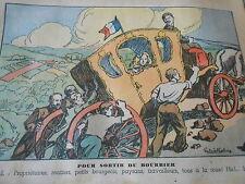 Pour sortir du Bourrier Laval paysans travailleurs bourgeois dessin Print 1935