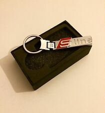 AUDI S LINE CHROME DOUBLE SIDE KEYRING KEYCHAIN STYLISH A1 A3 A4 A5 A6 A8 Q7 TT