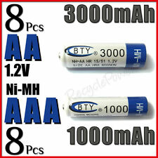 8 Piles rechargeables AAA 1000 mAh + 8 Piles rechargeables AA 3000 mAh - BTY