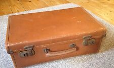 Lovely Vintage Suitcase/Small/Retro Travel/Luggage/Cheney/Brown/Tan Leather Look