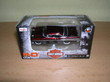 Maisto Harley-Davidson Customs 1957 Chevrolet Bel Air weinrotmetallic , 1:64