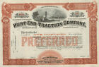 West End Traction Company   1890 Pittsburgh Pennsylvania old stock certificate