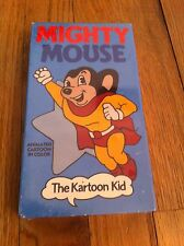 Mighty Mouse The Kartoon Kid Animated Cartoon VHS Video 1989 Brand New SEALED