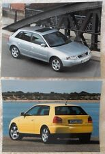 AUDI A3 1.8 T Quattro & 5 Door Press Photo lot x2 2000 - no brochure