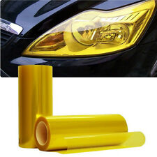 Luxury Car Headlight Fog Light Taillight Yellow Vinyl Film Wrap Sticker New