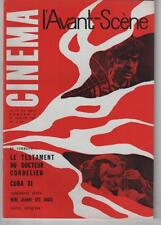 L'AVANT-SCENE n°6 Jean Renoir LE TESTAMENT DU DOCTEUR CORDELIER 1961