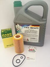 MAN Oil FILTER HU718/1K Mercedes-Benz W210 S210 W211 S211 + 5 Liter DBV 5W/30
