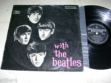 THE BEATLES With The Beatles *MEGARARE 1st PRESS SILVER/BLACK PARLOPHONE VINYL*