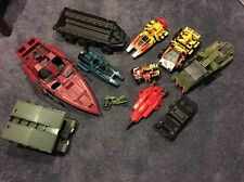 GI JOE HUGE LOT of vintage vehicles Only