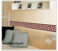 Brown Pattern Wall Border Decals Removable Sticker Home Decor DIY Room Art
