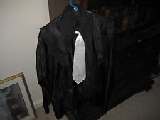 """Adult """"Gangster"""" Pinstriped Halloween Costume   size Large"""