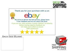 100x eBay High Quality Top Seller Store Thank You Feedback 5-Star Business Card