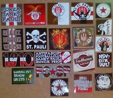 100 Aufkleber  Sankt Pauli Sticker Ultra USP Skinheads k. Seidenschal St.