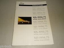 Technische Anleitung Einführung Update Änderungen Jaguar XJS Modelljahr 1994.75
