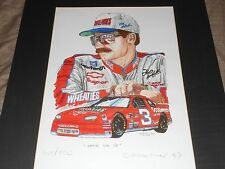 "DALE EARNHARDT PRINT BY RICK FINN ""EATIN' 'EM UP"" 1997 LIMITED EDITION"