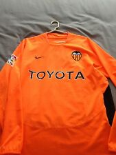 03/04 FC Valencia player issue l/s shirt size L. Baraja No. 8