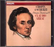 Claudio ARRAU: CHOPIN Scherzo No.1 2 3 4 Polonaise No.7 Op.61 Philips CD Scherzi