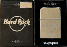 Hard Rock Cafe BARCELONA Silver Chrome ZIPPO Lighter New in Box w/Sealed Sticker