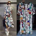 Women Lady Summer Casual Party Club Dress Loose Tops T-shirt Plus Size Blouse