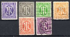 Germany / Bizone - 1945 Definitives British printing - Mi. 10-15 FU